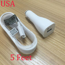 For Samsung Galaxy J7 ON5 ON7 Adaptive FAST Charging Car Charger OEM USB 5FT USA