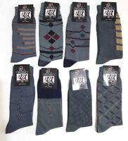 12pair High Quality Mens Designer 100% Cotton Rich Dress socks Size 7-11Assorted