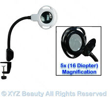 (5x) Magnification (16) Diopter Black Clamp Led Mag Lamp Light Salon Equipment