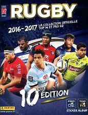 PANINI  RUGBY 2016/2017  (FRANCE) : LOT DE 191 IMAGES STICKERS VIGNETTES