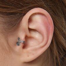 New Handmade Women Single Nose Rings Ear Cuff 925 Sterling Silver No Piercing