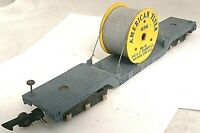 American Flyer No. 636 Erie 12 Wheel Depressed Center Flat Car with Cable Reel