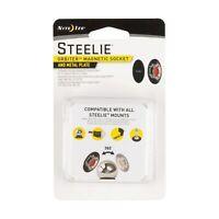 Nite Ize Steelie Orbiter Magnetic Socket + Metal Plate Components (4-Pack)