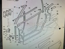 BENTLEY GTC RIGHT HAND A PILLAR WEATHERSTRIP DOOR SEAL NUMBER 8 ON ILLUSTRATION