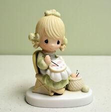1979 Precious Moments Figurine Mom Mother Sew Dear Jonathan & David E-3106