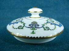 Minton H2581 Pink Flowers Blue & Green Leaves Bone China Tea Pot Lid