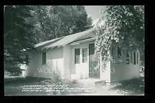 2 Diff 1950's RPPCs Tamarack Cottage Schram's Red Cedar Lodge Jenkins MN  B3064