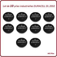 10 piles bouton DL2032 lithium Duracell Ind, livraison rapide et gratuite