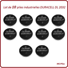 10 batterie a bottone DL2032 litio Duracell Ind