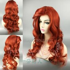 Jessica Women's Copper Red Curly Hair Hair Cos Wig Syntheti Cosplay Party Wigs