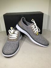 Cole Haan Generation Zerogrand Stitchlite Men's Sz 8.5 Gray Knit Sneakers X1-734