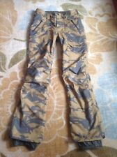 burton snowboard ski pants . Men's XS camouflage