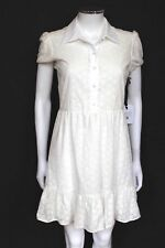 VALENTINO White Cotton Embroidered Shirt Dress It 40 uk  8