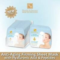 Anti Aging Firming Sheet Facial Mask Peptides Hyaluronic Acid H&B DEAD SEA -18ml