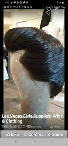Elvis Wig Professional Tribute Artist Wig 100% Human Hair Front Lace