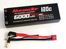RoaringTop LiPo Battery Pack 120C 6000mAh 2S2P 7.4V HardCase with Bullet Sockets