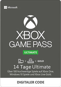 Xbox Game Pass Ultimate 14 Tage Live Gold + Game Pass Xbox One / PC Win 10 Code