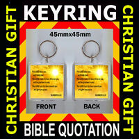 CHRISTIAN BIBLE QUOTE - NUMBERS 6-24 BIBLE VERSE - MAY THE LORD BLESS KEYRING 45