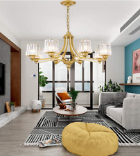 Modern 8-Lights Crystal Shade Chandeliers Pendant Lamps Home Ceiling Fixtures