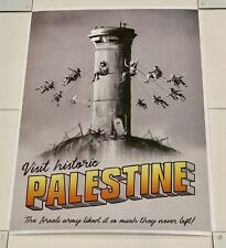 Authentic BANKSY Palestine Poster WTM Trade Walled Off Hotel RARE ART Original