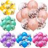 "10PCS Colorful Confetti Balloon Birthday Wedding Party Decor Helium Balloons 12"""