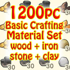 New Horizons Crafting Materials: stone clay iron nuggets wood
