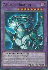 YU-GI-OH ULTRA RARE CARD: AMULET DRAGON - DRL3-EN043 - 1st EDITION