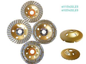 Schleifteller Diamant Schleiftopf Topfscheibe 115-125 mm 22,23Turbo doppelreihig