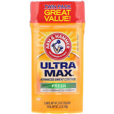 Arm & Hammer, UltraMax, Solid Antiperspirant Deodorant, for Men, Fresh, Twin Pac