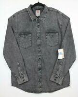 NWT Levi's Mens Size XL Matthew Hunk Grey Denim Button Up Shirt