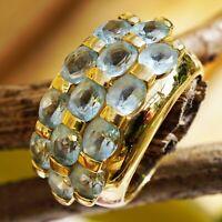Blautopas Ring 585er Gold .......water blue City Fashion