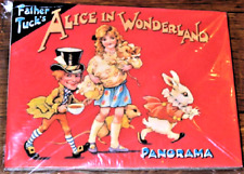 ALICE IN WONDERLAND PANORAMA BOOK unfolds to 4ft Display! MINT/Sealed Shackman