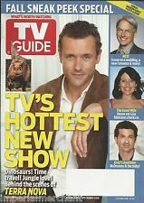 TV Guide magazine Terra Nova NCIS The Good Wife Greys Anatomy Modern Family