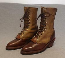 """Chippewa Packer Leather Crazy Horse Lace Riding boots women's size 8.5M """"Usa"""""""