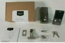 Amazon  basics Electronic Deadbolt Door Lock, Modern, Satin Nickel. New. In box