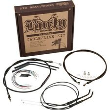 """Burly Complete Black Cable kit for 97-03 HD Sportster for 14"""" tall handlebars"""