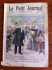 ?2)Le petit Journal 2/11/1902; Le président Kruger à Menton/ A Saïgon, Mr Beau