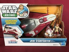 STAR WARS CLONE WARS  - PLAYSKOOL JEDI FORCE GALACTIC HEROES - JEDI STARFIGHTER