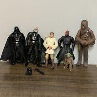 6x Star Wars Series Clone Yoda Jedi chewbacca Obi-wan Darth Vader Action Figure