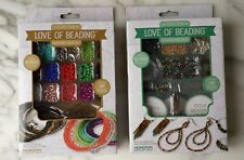 Love Of Beading 2 set Memory and Earring Kit, includes: tools,plier,wire,beads .