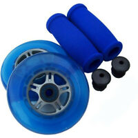 BLUE Replacement Razor Scooter WHEELS, ABEC 7 BEARINGS, BLUE GRIPS