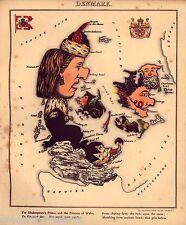 Cartoon Maps of Europe England Ireland France Germany Holland Russia Italy Spain