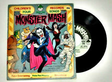 Vintage Kids Halloween Vinyl Records ~ Casper, Monster Mash, Purple People Eater