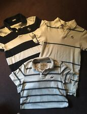 Lot of 3 ABERCROMBIE & FITCH HOLLISTER MENS SHORT SLEEVE POLO / T SHIRTS S