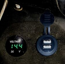 USB and VOLTMETER for HONDA DEAUVILLE NT650V PREWIRED WITH PUSHFIT TERMINALS