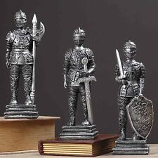 Medieval Knight suit of Armor statue Warrior Retro Home Study Ornament Boy Gift