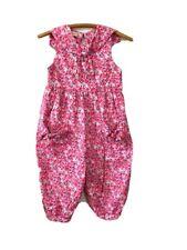 Vintage Laura Ashley Mother & Child Floral Romper Children's Jumpsuit size 7/8