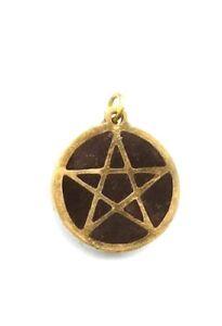 "Brass Pentacle Pendant - 15/16""  diameter  ~Wiccan/Pagan"
