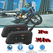 V6 Pro 1200M Motorcycle Intercom Bluetooth Headsets GPS Communication System USA