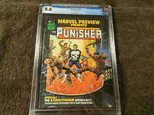 1975 MARVEL Comics MARVEL PREVIEW #2 1st PUNISHER ORIGIN DOMINIC FORTUNE CGC 9.0